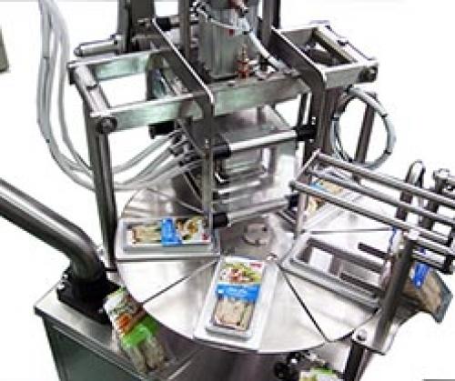 Полуавтоматическая запечатывающая машина для контейнеров PAO-R